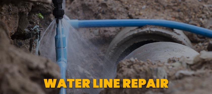 water line repair service